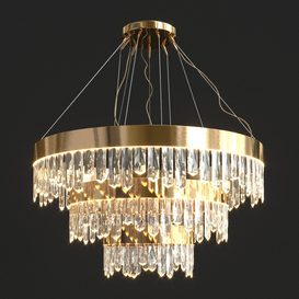 Crystal Sticks Triple Chandelier 3d model Download  Buy 3dbrute