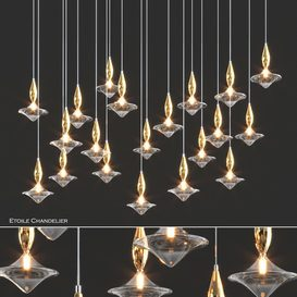 Etoile Chandelier by Andrea Lucatello 3d model Download  Buy 3dbrute