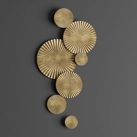 Gold wall decor 3d model Download  Buy 3dbrute