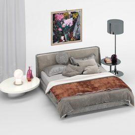 M-19  Bed 3d model Download  Buy 3dbrute