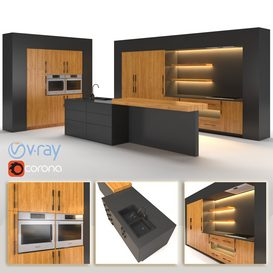 Kitchen 03 3d model Download  Buy 3dbrute