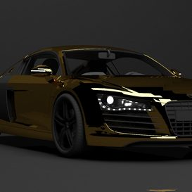 Audi V8 FSI-Gold Edition 3d model Download  Buy 3dbrute