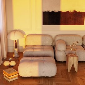 sofa and decorative object 3d model Download  Buy 3dbrute