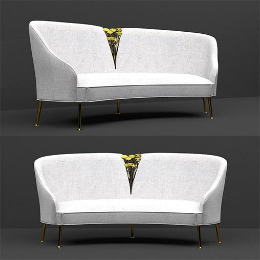 Sofa Luxury 3d model Download  Buy 3dbrute