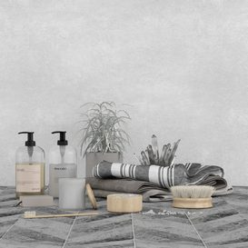 Bathroom set 3d model Download  Buy 3dbrute