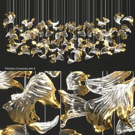 Frozen Sans Souci Chandelier 2 by Barbora 3d model Download  Buy 3dbrute