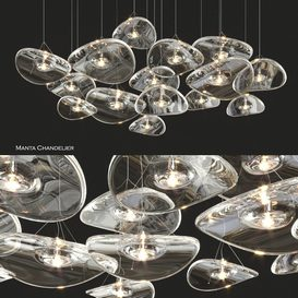 Terzani Manta Chandelier 3d model Download Buy 3dbrute