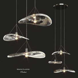 Terzani Manta Cluster Pendant Light 3d model Download  Buy 3dbrute