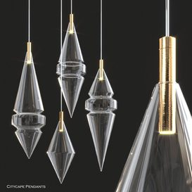 Citycape Pendant Lights by Atelier 3d model Download  Buy 3dbrute
