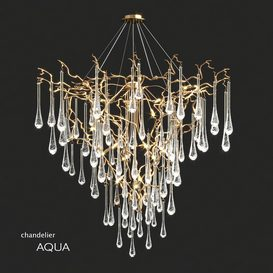 Serip Aqua 19 Lamp Funnel Bespoke Chandelier 3d model Download  Buy 3dbrute