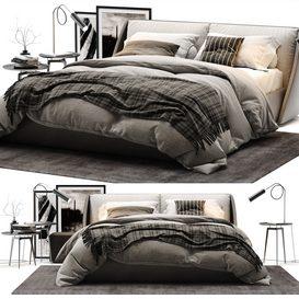 Alivar Lagoon bed 01 3d model Download  Buy 3dbrute