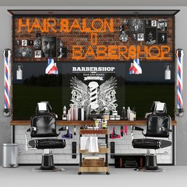 Barber Shop 01 3d model Download  Buy 3dbrute