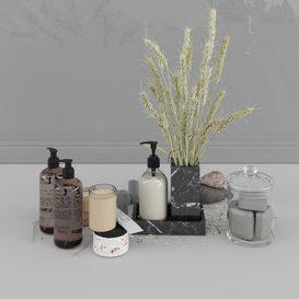 Bathroom Set 2 3d model Download  Buy 3dbrute