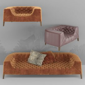 BLAKE SOFA 3d model Download  Buy 3dbrute