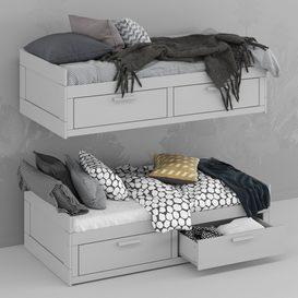 BRIMNES bed 01 3d model Download  Buy 3dbrute
