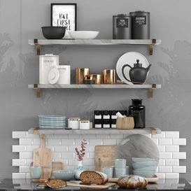 Decorative set in kitchen 3d model Download  Buy 3dbrute