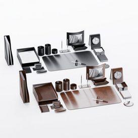 Desk set for the manager 3d model Download  Buy 3dbrute