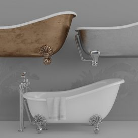 Devon Regina Bath set 3d model Download  Buy 3dbrute