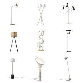 Floor lamp vol1 2021 3d model Download  Buy 3dbrute
