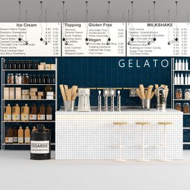 Gelato shop 01 3d model Download  Buy 3dbrute