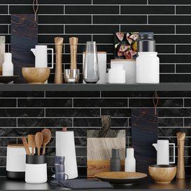 Kitchen Accessories 3d model Download  Buy 3dbrute