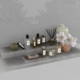 Malone Bathroom set 3d model Download  Buy 3dbrute