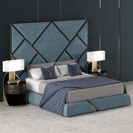 NEW BED DESIGN 002 3d model Download  Buy 3dbrute