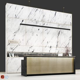 Reception white marble 3d model Download  Buy 3dbrute