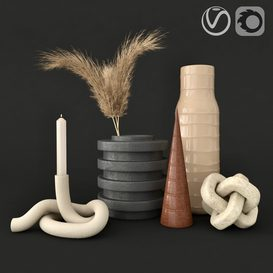 decorative set 03 3d model Download  Buy 3dbrute