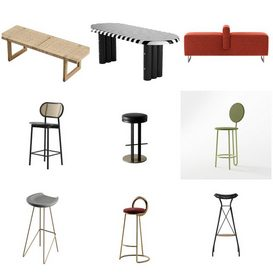 Stools Chairs vol1 2021 3d model Download  Buy 3dbrute