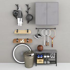 Storage of sports equipment 3d model Download  Buy 3dbrute