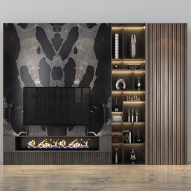 TV shelf set 315 3d model Download  Buy 3dbrute