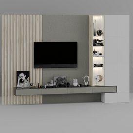 TV Wall 3d model Download  Buy 3dbrute