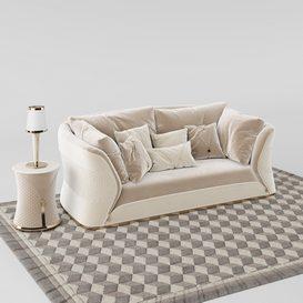 Vogue sofa set 3d model Download  Buy 3dbrute