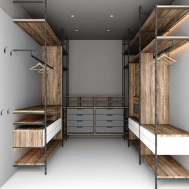 wardrobe with mirror 3d model Download  Buy 3dbrute