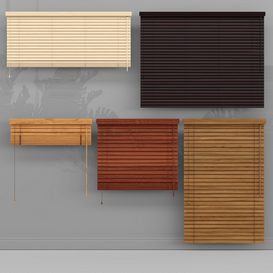 Wooden blinds 3d model Download  Buy 3dbrute
