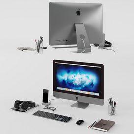 Workplace Space Gray 3d model Download  Buy 3dbrute
