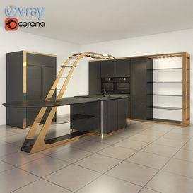 Kitchen 11 3d model Download  Buy 3dbrute