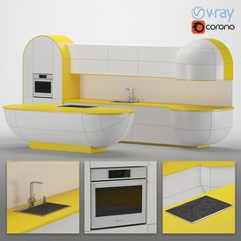 Kitchen 07 3d model Download  Buy 3dbrute
