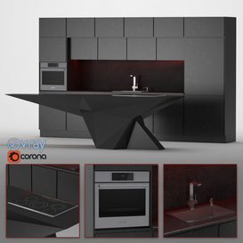 Kitchen 08 3d model Download  Buy 3dbrute