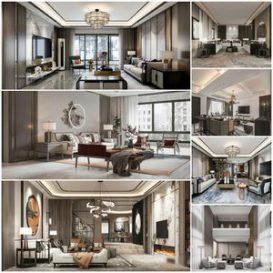 Living room vol2 2021 3d model Download  Buy 3dbrute
