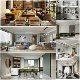 Living room vol1 2021 3d model Download  Buy 3dbrute