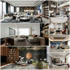 Living room vol3 2021 3d model Download  Buy 3dbrute