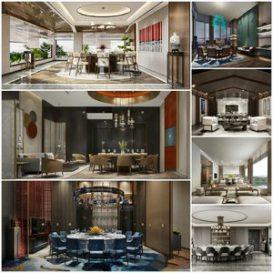 Restaurant private room vol1 2021 3d model Download  Buy 3dbrute