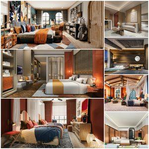 Hotel-Bedrooms vol1 2021 3d model Download  Buy 3dbrute