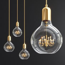 King Edison Trio Pendant Lamp 3d model Download  Buy 3dbrute
