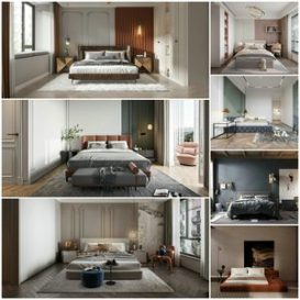 Bedroom vol7 2021 3d model Download  Buy 3dbrute