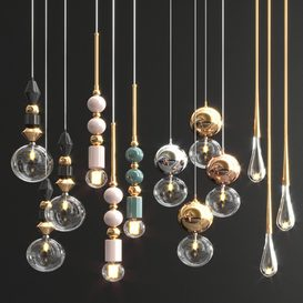 Four Hanging Lights_65 3d model Download  Buy 3dbrute