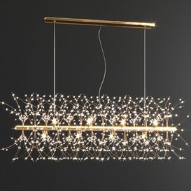 Crystal Linear Chandelier 3d model Download  Buy 3dbrute