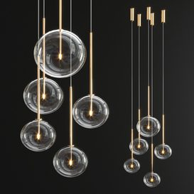 Radice Pendant 5 light 3d model Download  Buy 3dbrute
